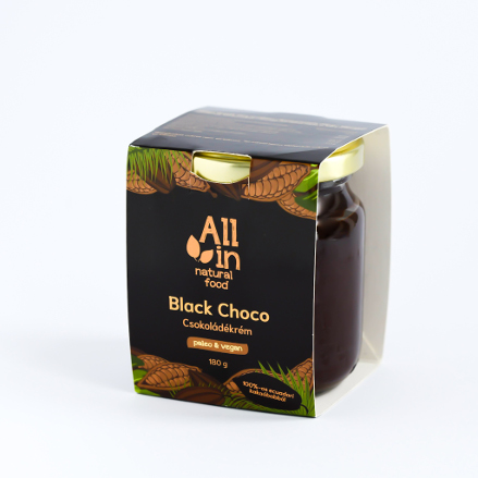 ALL IN natural food - paleo és vegán Black choco csokoládékrém