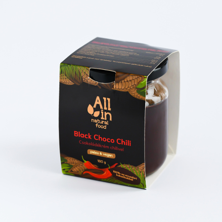ALL IN natural food - paleo és vegán Black Choco Chili csokoládékrém
