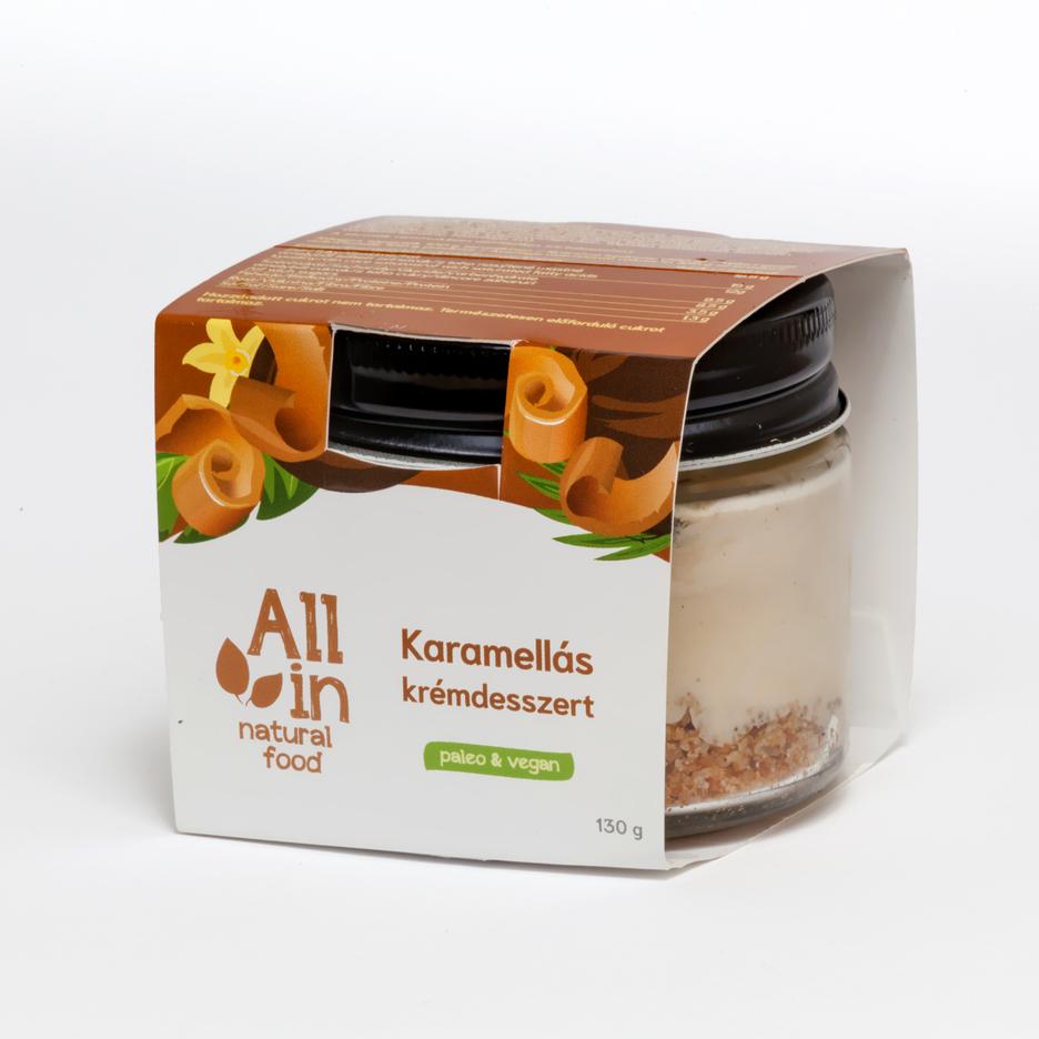 ALL IN natural food - paleo és vegán karamellás krémdesszert