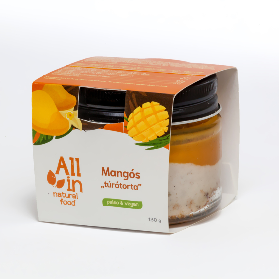 ALL IN natural food - paleo és vegán mangós túrótorta
