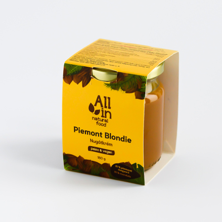 ALL IN natural food - paleo és vegán Piemont blondie mandulás nugátkrém