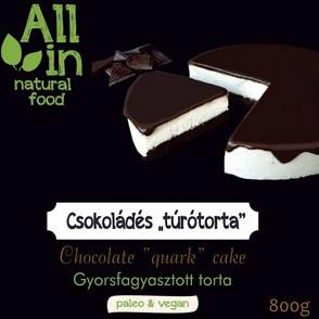 ALL IN natural food - paleo és vegán csokoládés túrótorta