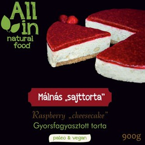ALL IN natural food - paleo és vegán sajttorta