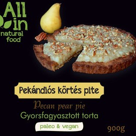 ALL IN natural food - paleo és vegán pekán<strong>dió</strong>s körtés pite