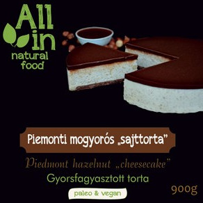 ALL IN natural food - paleo és vegán piemonti <strong>mogyoró</strong>s sajttorta