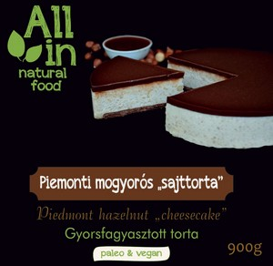 ALL IN natural food - paleo és vegán piemonti mogyorós sajttorta