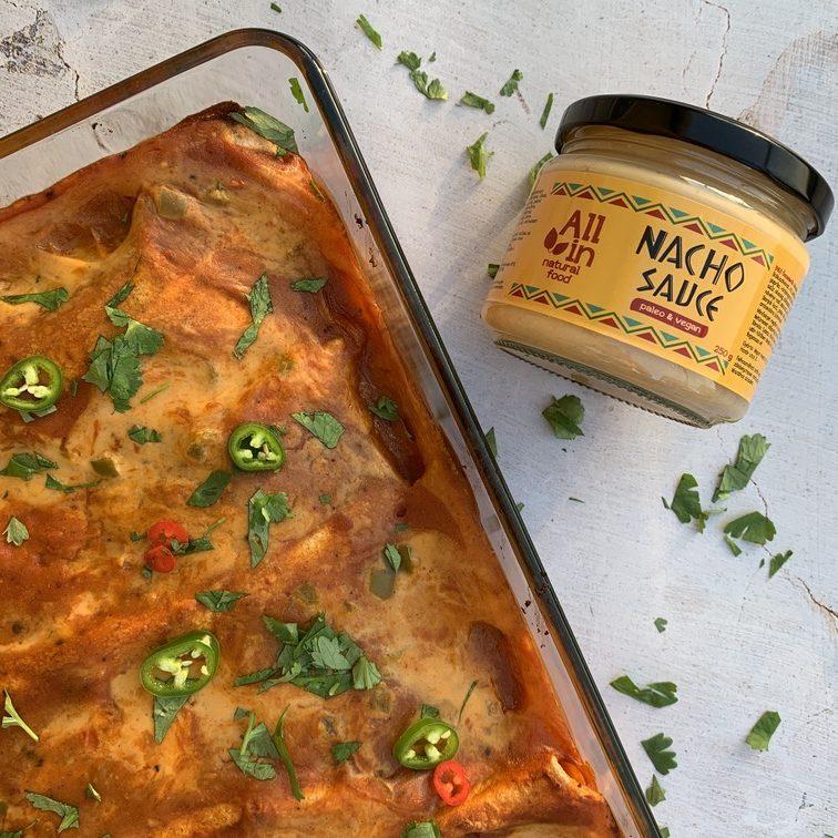 vegán enchilada recept - ALL IN Natural food