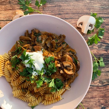 gombapörkölt recept Vegaföllel - ALL IN natural food