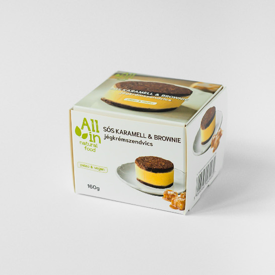 Sóskaramell és brownie jégkrémszendvics - ALL IN natural food