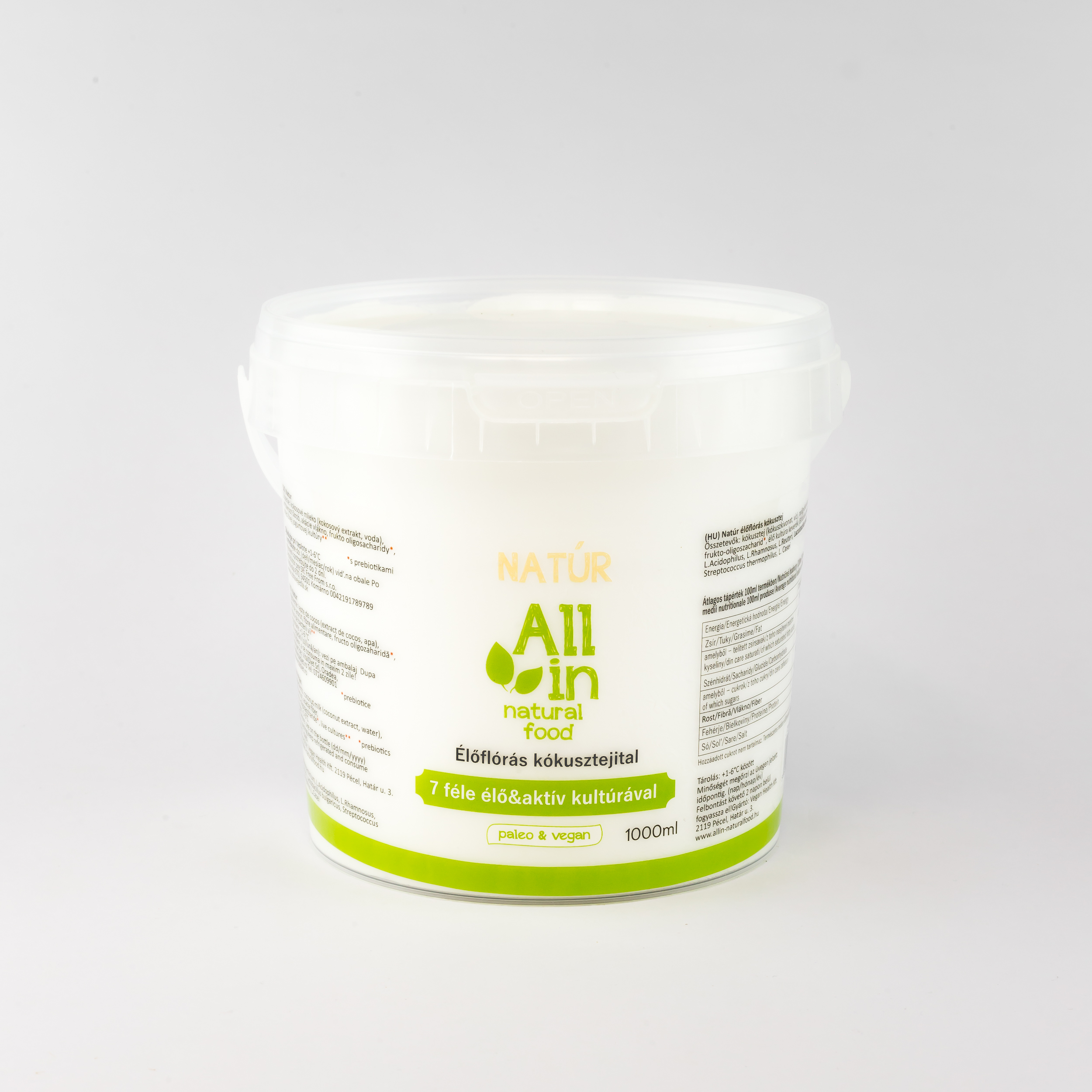 ALL IN natural food - Élőflórás kókuszjoghurt 1000ml