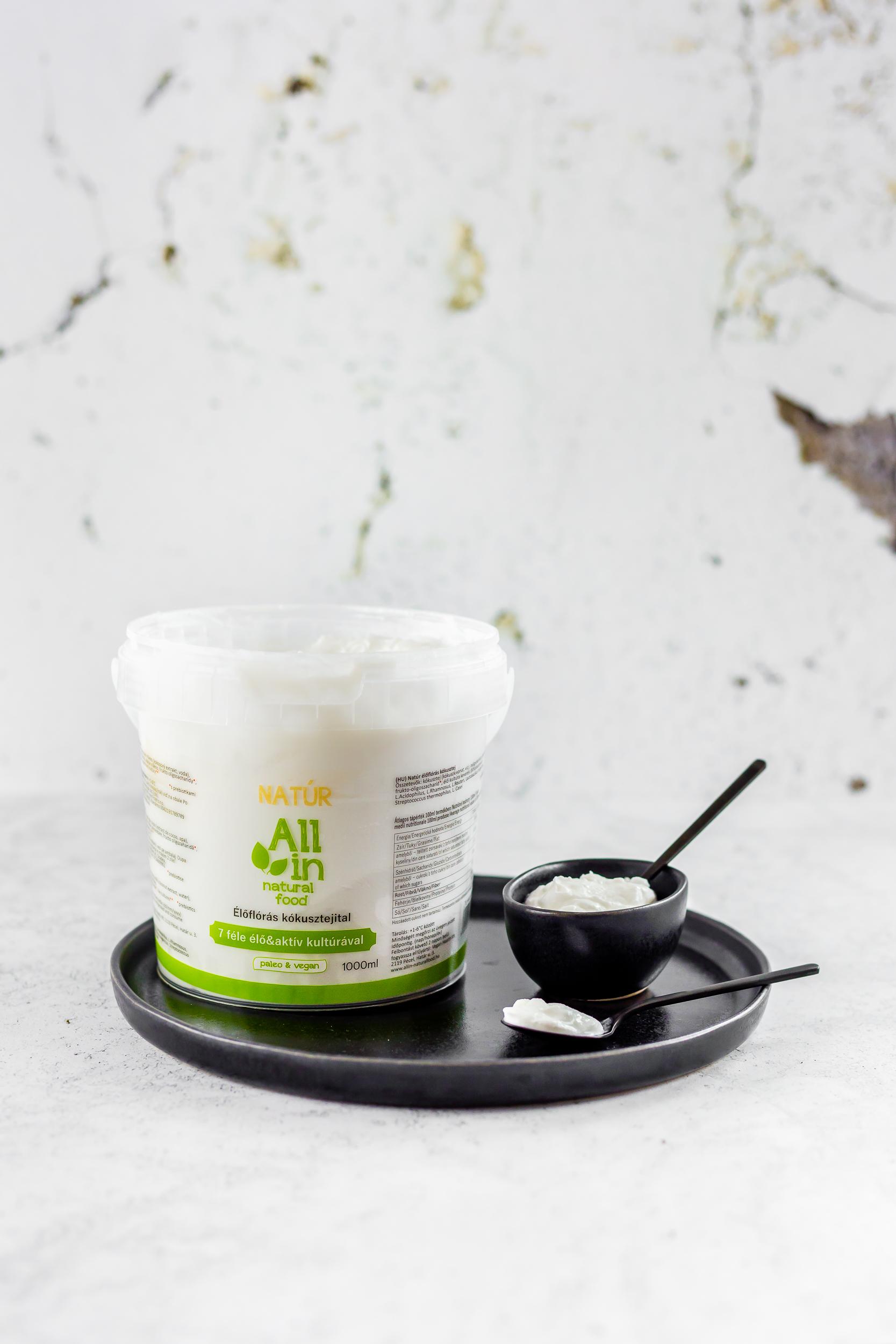 ALL IN natural food - Élőflórás kókuszjoghurt 1000ml