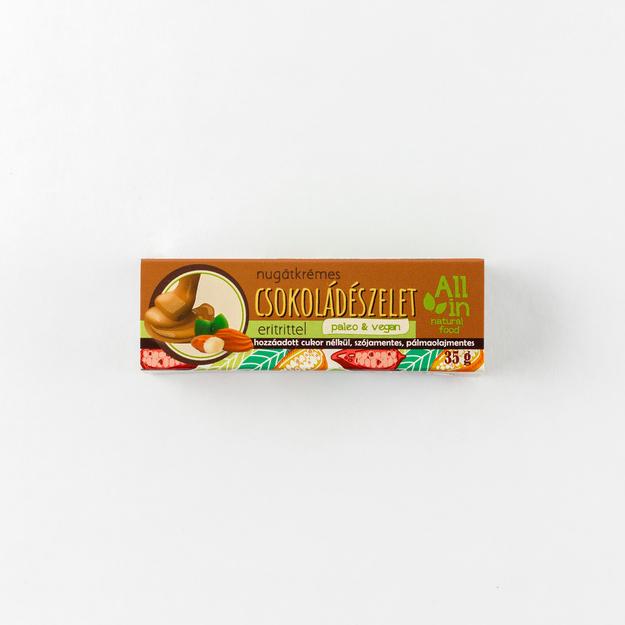 nugátkrémes csokoládészelet - ALL IN natural food paleo vegán