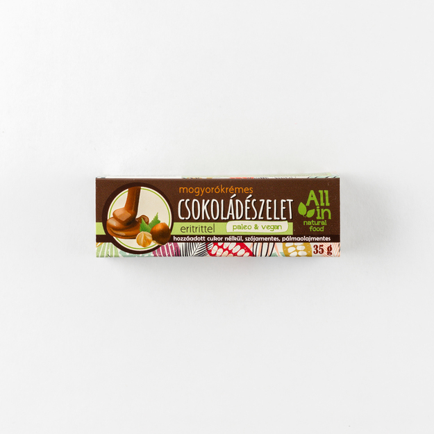 mogyorókrémes csokoládészelet - ALL IN natural food paleo vegán